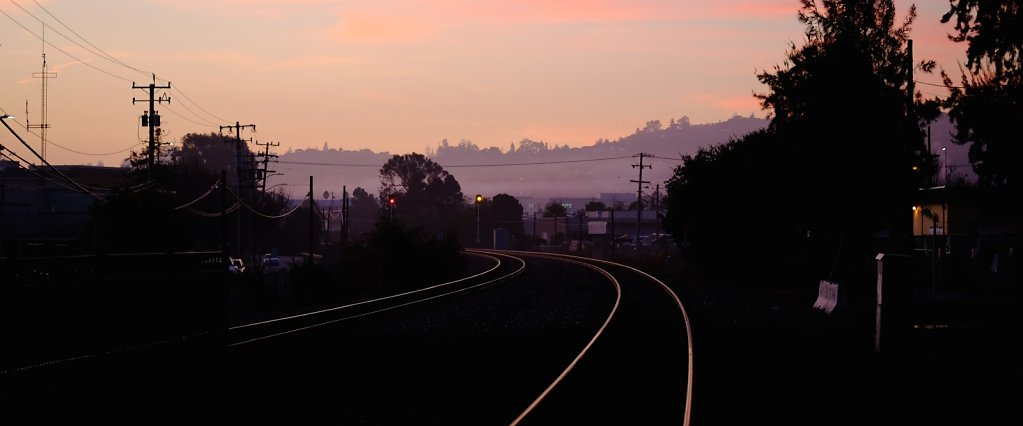 Railroad in the morning