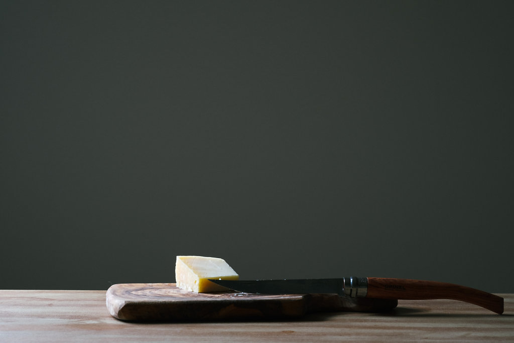 Cheese and a knife